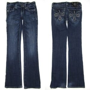 Miss Me 26 Cross Bling Bootcut Jeans